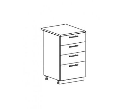 КВАДРО ШН4Я-500 шкаф нижний с 4 ящиками