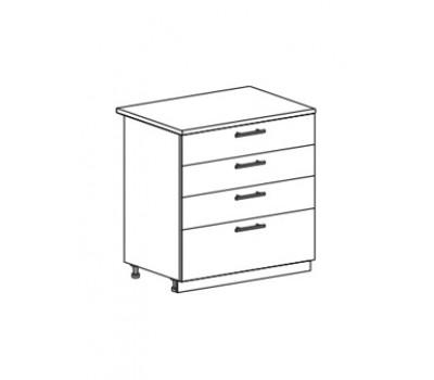 МОДЕНА ШН4Я-800 шкаф нижний с 4 ящиками