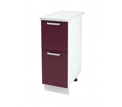 Ксения ШН2Я-300 шкаф нижний комод (2 ящика)