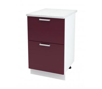 Ксения ШН2Я-500 шкаф нижний комод (2 ящика)
