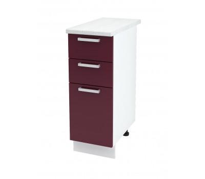 Ксения ШН3Я-300 шкаф нижний с 3 ящиками
