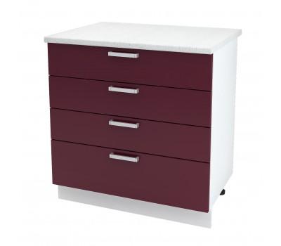 Ксения ШН4Я-800 шкаф нижний с 4 ящиками