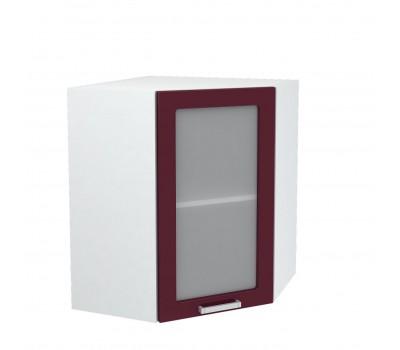 Ксения ШВВУС-550 угловой навесной шкаф со стеклом